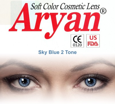 Aryan 2 Tone Sky Blue By Visions India Yearly Contact Lens