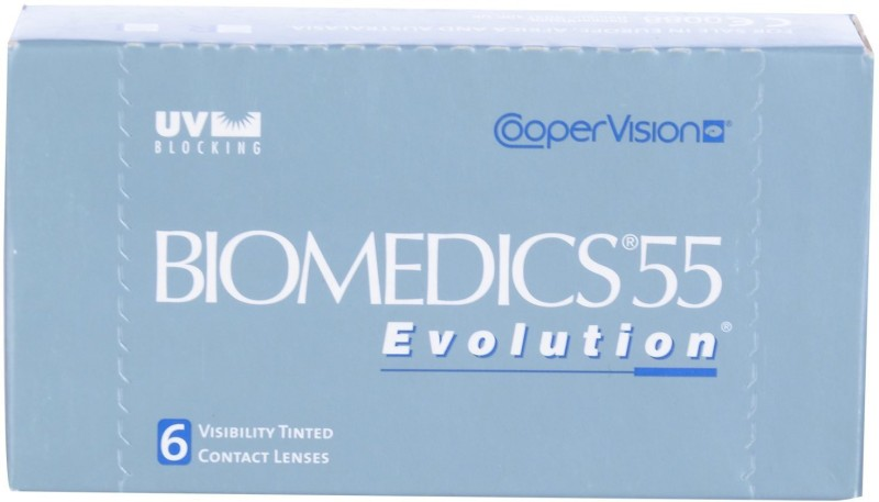 CooperVision Biomedics 55 Monthly Contact Lens(-0.5, Plano Clear, Pack of 6)