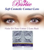 Barbie Tri Tone Violet Zero Power By Visions India Monthly Contact Lens(Violet-0.00, Violet, Pack of 2)