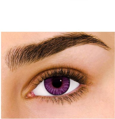 Sparkle Amethyst Monthly Contact Lens(Zero Power, Amethyst, Pack of 2)