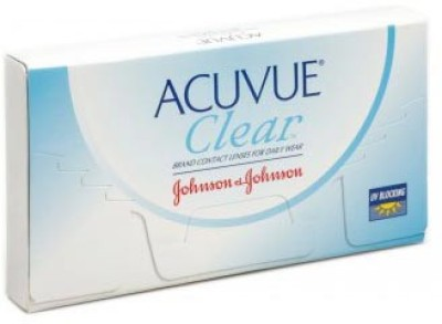 Johnson & Johnson Acuvue Clear Monthly Contact Lens(-1.00, Clear, Pack of 6)