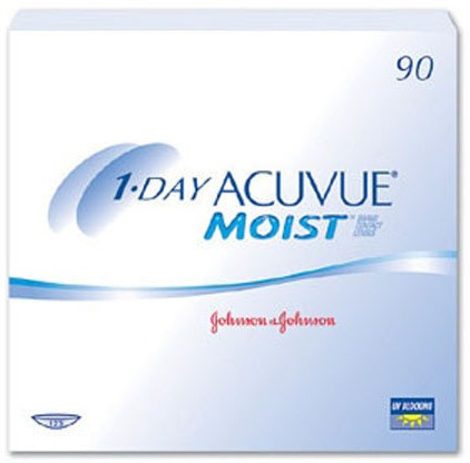 Acuvue 1-Day Moist Daily Contact Lens(-9.5, Clear, Pack of 90)