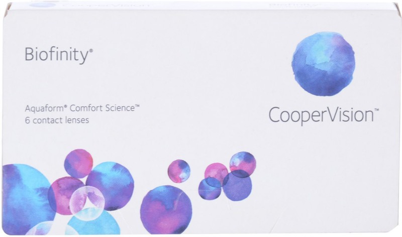 CooperVision Biofinity Monthly Contact Lens(0, Plano Clear, Pack of 6)