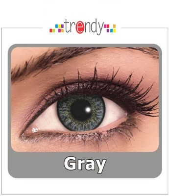 Trendy Grey Monthly Contact Lens(Zero Power, Grey, Pack of 2) at flipkart