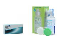 Bausch & Lomb HO4 with Biotrue 60ml Solution by Visions India Yearly Contact Lens(-9.50, Clear, Pack of 1)
