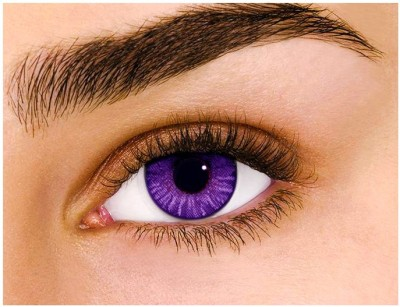 Sparkle Violet Monthly Contact Lens(Zero Power, Violet, Pack of 2)
