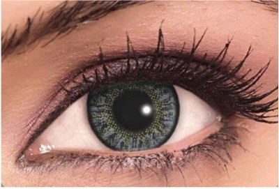 Sparkle Dark Gray Monthly Contact Lens(Zero Power, Dark Gray, Pack of 2)