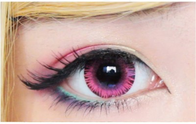 Sparkle Pink Monthly Contact Lens