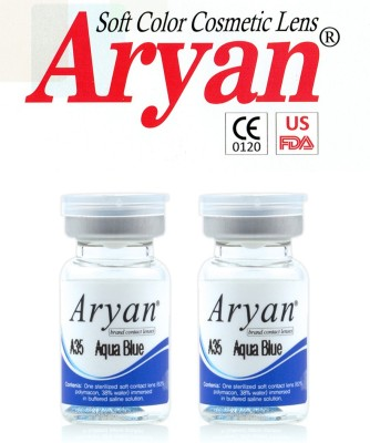 Aryan Tri Tone Aqua Blue By Visions India Yearly Contact Lens
