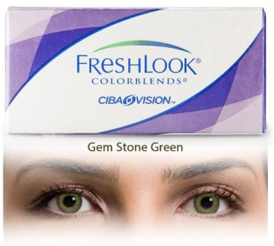Ciba Vision Freshlook Colorblends Gemstone Green By Visions India Monthly Contact Lens(-2.50, Gemstone Green, Pack of 2)