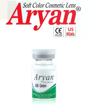 Aryan Tri Tone Green Visions India Yearly Contact Lens