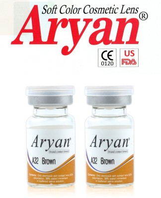 Aryan Tri Tone Brown By Visions India Yearly Contact Lens