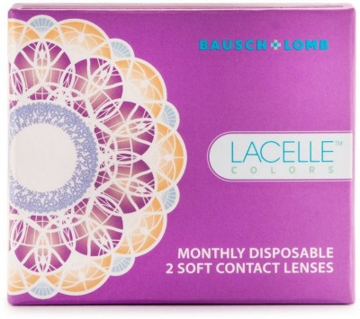 Bausch & Lomb Lacelle Monthly Contact Lens(0, Sparkling Brown, Pack of 2)