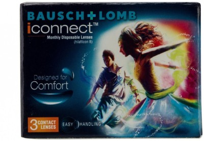 Bausch & Lomb iconnect Monthly Contact Lens(-3.75, Transparent, Pack of 3)