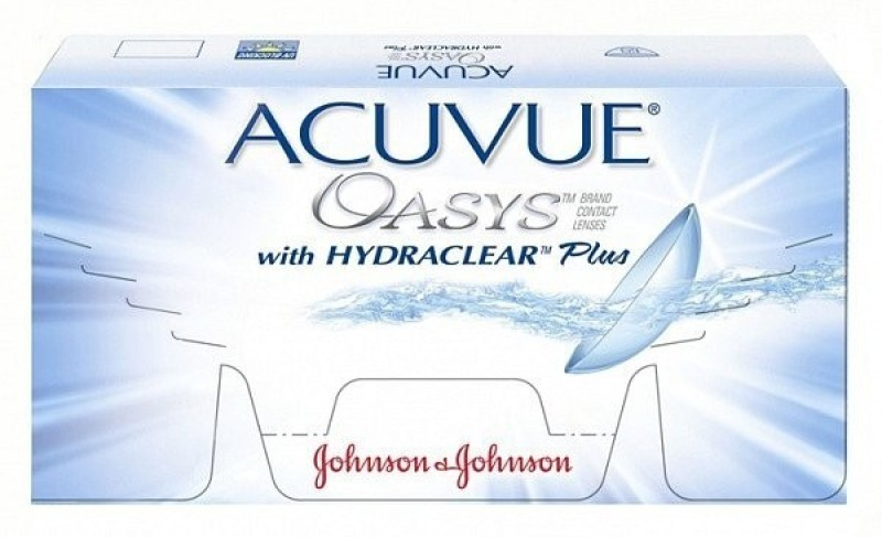 Johnson & Johnson ACUVUE Oasys-9.50 Bi-weekly Contact Lens(-9.5, Transparent, Pack of 6)