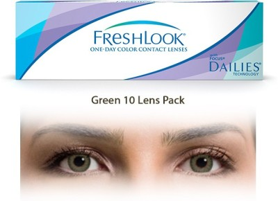 Ciba Vision Freshlook Green One Day ColorblendsBy Visions India Daily Contact Lens(-4.25, Green, Pack of 10)