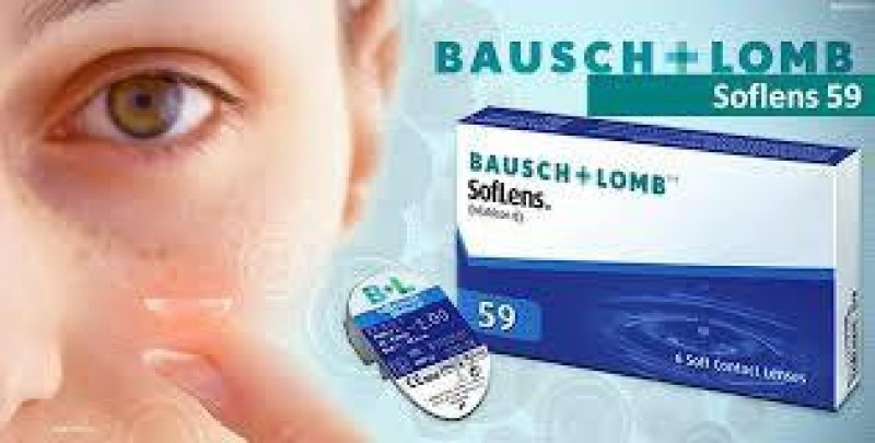 Bausch & Lomb SoftLens 59 Monthly Contact Lens(-8.5 dioptres, Transparent, Pack of 6)