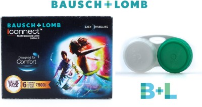 Bausch & Lomb Iconnect With Lens Case By Visions India Monthly Contact Lens