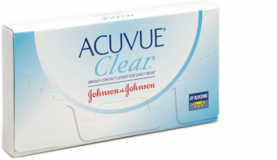 Johnson & Johnson Acuvue Clear Monthly Contact Lens(-0.75, Transparent, Pack of 6)