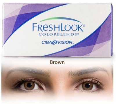 Ciba Vision Freshlook Colorblends Monthly Contact Lens(-2.25, Brown, Pack of 2)