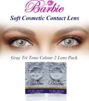 Barbie Tri Tone Grey Zero Power By Visions India Monthly Contact Lens(Grey-0.00, Grey, Pack of 2)