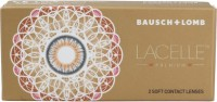 Bausch & Lomb Lacelle Premium Blue With Lens Case By VisionsIndia Monthly Contact Lens(-4.50, Blue, Pack of 2)