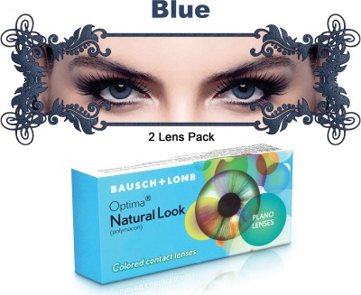 Bausch & Lomb New Natural Look Blue Color By Visions India 3 Monthly Contact Lens