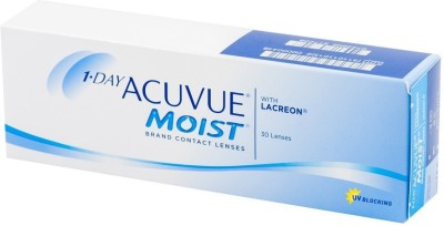 Acuvue Moist Fresh Stock New MRP -1.25 Pwr By Visions India Daily Contact Lens(-1.25, Clear, Pack of 30)
