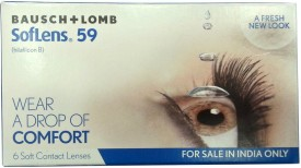 Bausch & Lomb SL 59 Soft Monthly Contact Lens(-6.5, transparent, Pack of 6)