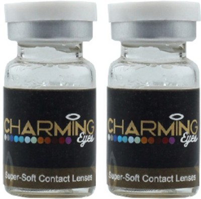 CharmingEyes Two Tone GreyColor By Lens4eye Yearly Contact Lens(-1.00, Grey, Pack of 2) at flipkart