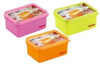 Nayasa  - 700 ml Plastic Food Storage(Pack of 3, Multicolor) at flipkart
