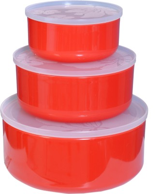 CSM  - 1000 ml Plastic Food Storage(Pack of 3, Red) at flipkart