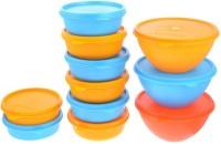 Herware 104-10  - 6300 ml Plastic Multi-purpose Storage Container(Pack of 11, Multicolor)