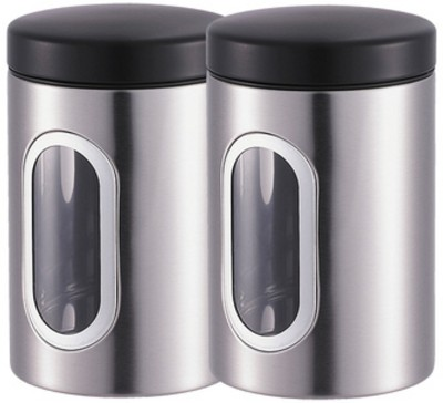Bergner Tidy Home 2 Pieces Canister  - 1.1 L Stainless Steel Food Storage