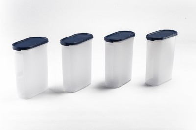 Signoraware Modular container Oval  - 2300 ml Plastic(Pack of 4, Blue)