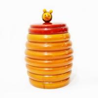 Spectrahut  - 350 ml Wooden Food Storage(Yellow)