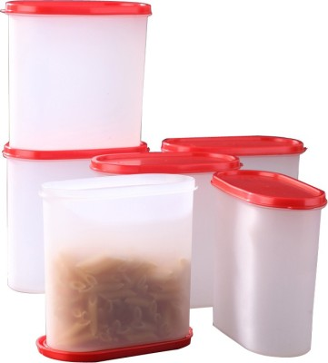Tallboy Mahaware(microwaveable) space saver  - 1800 ml Polypropylene Multi-purpose Storage Container(Pack of 6, Red, White) at flipkart