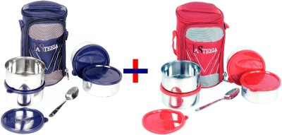 La Steela Officer,S Choice 4 Combo 4 Containers Lunch Box