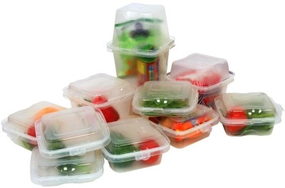 Televantage Mix N Match Containers  - 1000 ml Plastic Food Storage(Pack of 10, Clear)