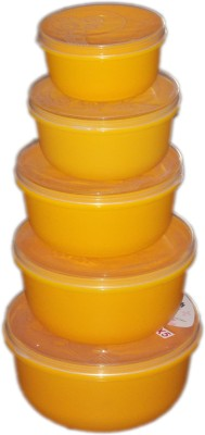 Sonal containers  - 700 ml Plastic Multi-purpose Storage Container(Pack of 5, Yellow, Orange, Multicolor)