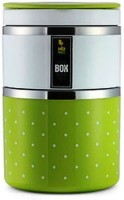 Home Belle 2 layer insulated lunch box  - 1 L Stainless Steel Multi-purpose Storage Container(Green)