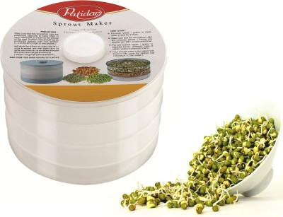Patidar Polymers Healthy Sprout Maker (Big)  - 2100 ml Plastic Food Storage