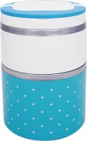 Home Belle 2 layer insulated lunch box  - 1 L Stainless Steel Multi-purpose Storage Container(Blue)