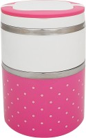 Home belle 2 layer insulated lunch box  - 1 L Stainless Steel Multi-purpose Storage Container