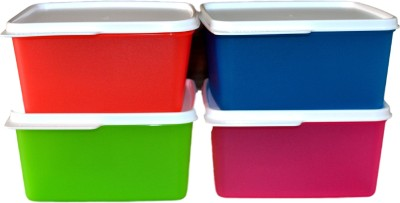 Tupperware Keep Tab (Set of 4) Containers  - 1200 ml Plastic Food Storage(Pack of 4, Multicolor)