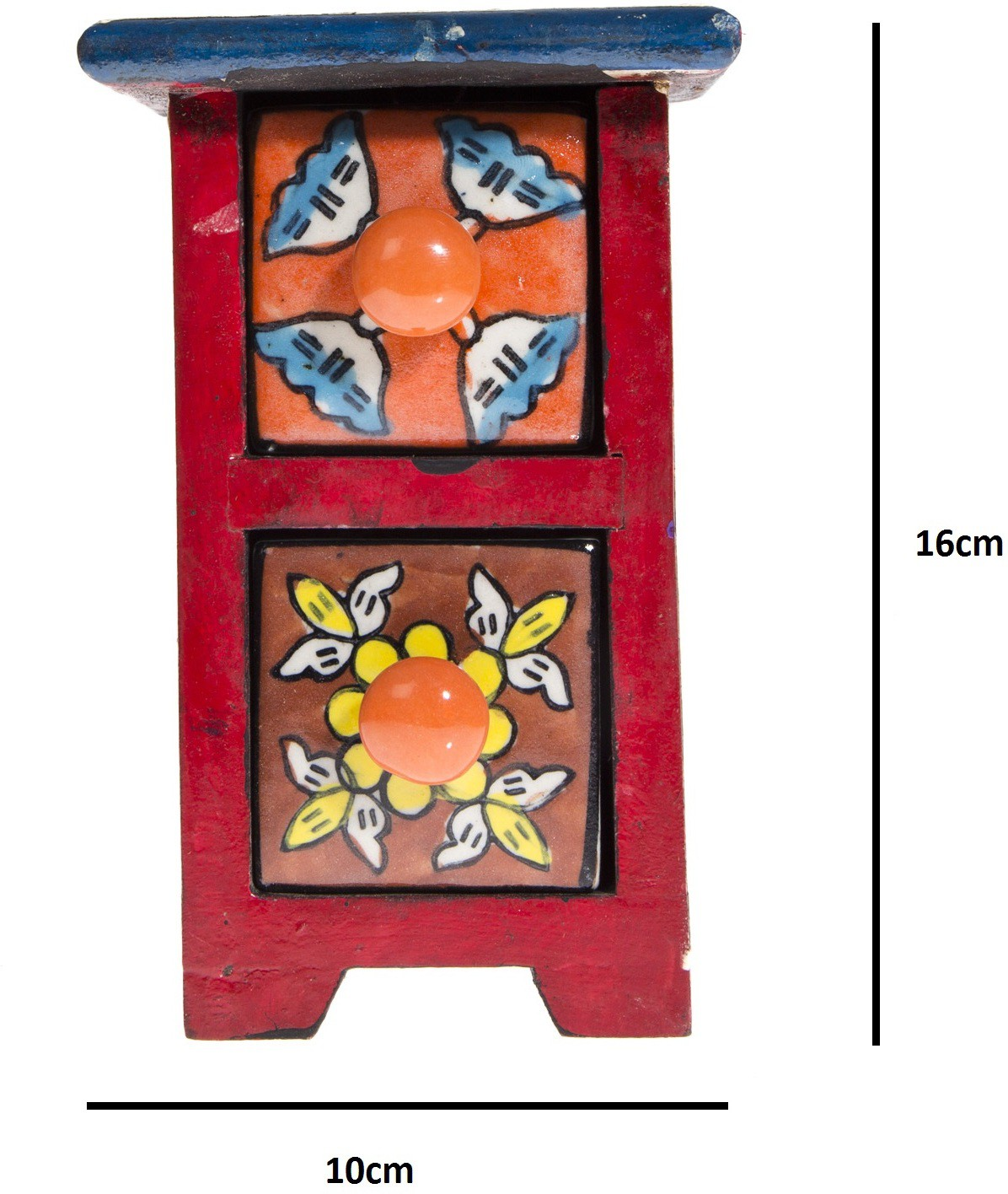 View Urban Monk Creations Wooden, Ceramic Wall Shelf(Number of Shelves - 2, Multicolor) Furniture (Urban Monk Creations)