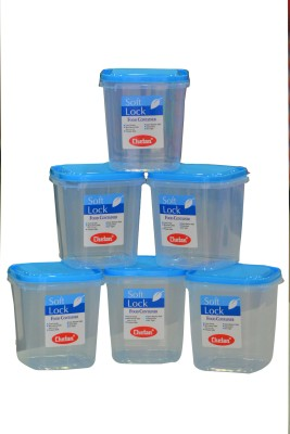 Chetan 6PC Softlock Plastic Kitchen Containers 1250ml  - 1250 ml Plastic Food Storage(Pack of 6, Clear)