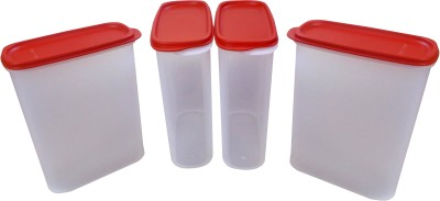 Tupperware Smart Saver Storage Containers  - 2300 ml Plastic Multi-purpose Storage Container(Pack of 4, Red)