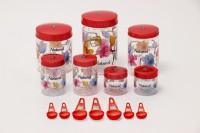 Sunshine Spectrum 7 Piece Kitchen Set Red  - 250 ml, 500 ml, 1000 ml, 1500 ml, 2000 ml Plastic Food Storage(Pack of 7, Red)