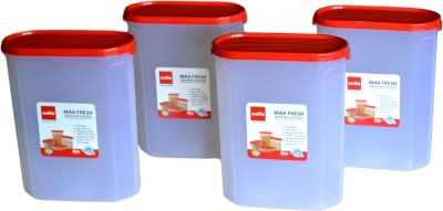 Cello Maxfresh Containers Modustore Oval  - 1800 ml Plastic Multi-purpose Storage Container(Pack of 4, Red)
